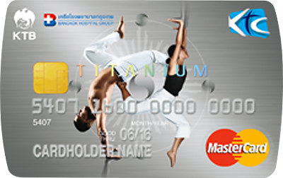 บัตรเครดิต KTC Bangkok Hospital Group Titanium MasterCard